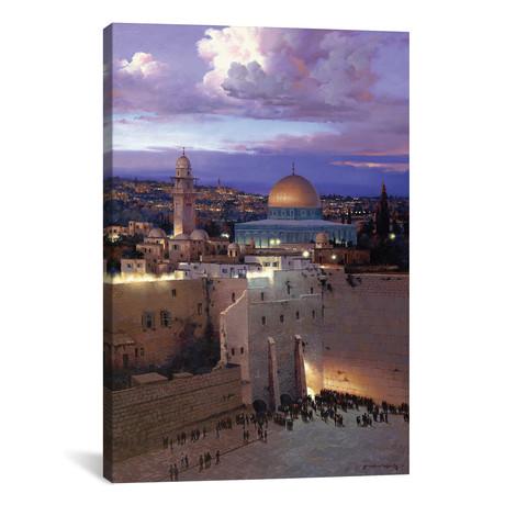 "Jerusalem Sunset // Maher Morcos (12""W x 18""H x 0.75""D)"