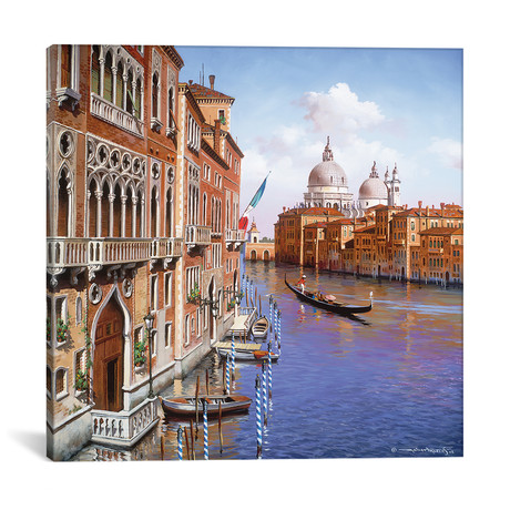 """Grand Canal // Maher Morcos (12""""W x 12""""H x 0.75""""D)"""