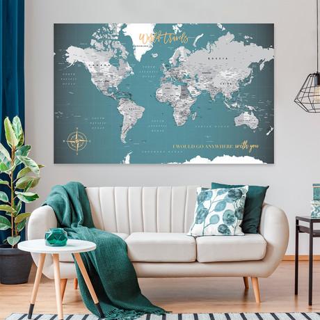 "Canvas World Push Pin Map // 60""W x 40""H"