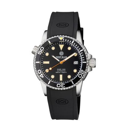 Deep Blue Diver 40mm Automatic // DIVER40BLACKVINTLUME