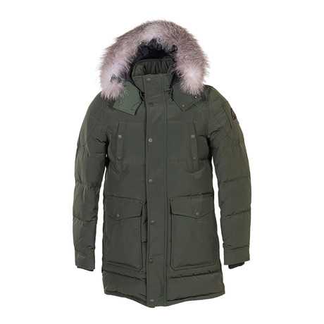 Men's West Gore Parka Canadian Army Jacket + Frost Fox // Green + Gray (XS)