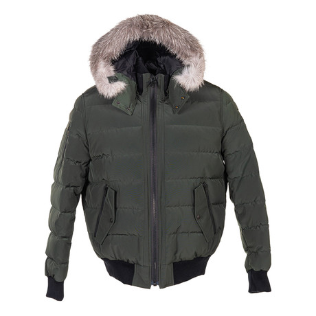 Men's Glace Bay Bomber Canadian Army Jacket + Frost Fox // Green + Gray (XS)