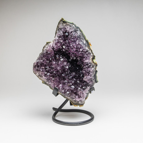 """Amethyst Cluster + Metal Stand // 10"""""""