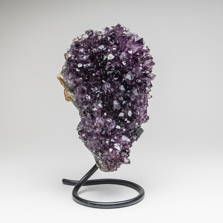 """Amethyst Cluster + Metal Stand // 10.5"""""""