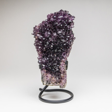 """Amethyst Cluster + Metal Stand // 11"""""""