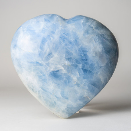 Blue Calcite Heart // Large