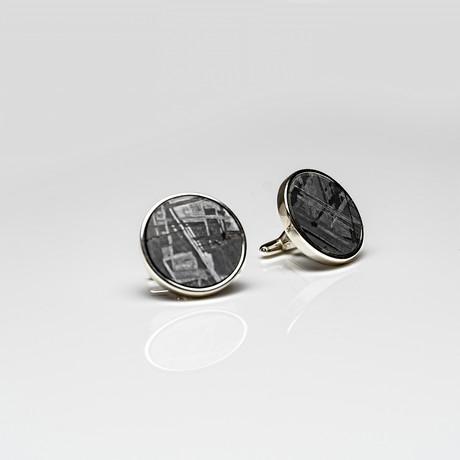 Seymchan Meteorite Cufflinks // Version 1