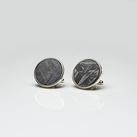 Seymchan Meteorite Cufflinks // Version 2