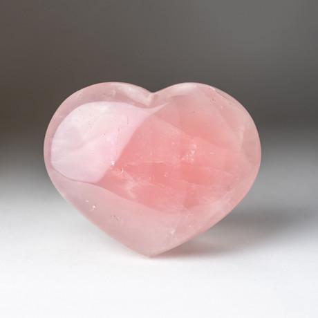 Rose Quartz Heart + Acrylic Display Stand // Version 1