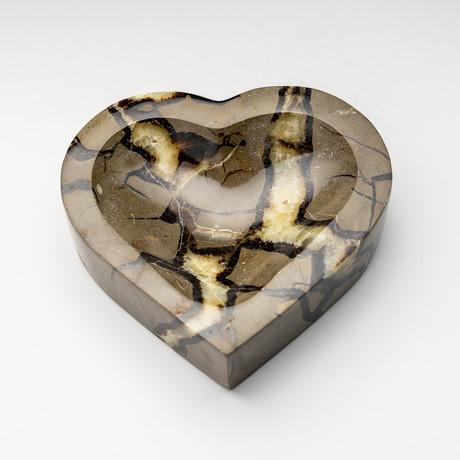 Septarian Heart Dish // Version 3