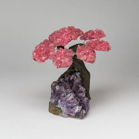 The Love Tree // Genuine Rose Quartz Tree + Amethyst Matrix // Medium