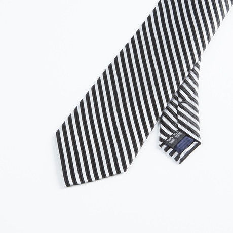 Formal Stripe Tie // Black + White