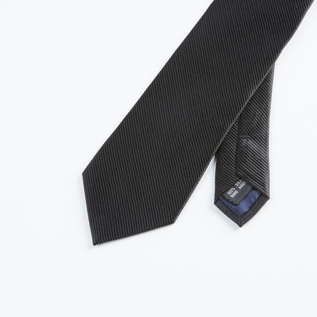 Textured Solid Tie // Black