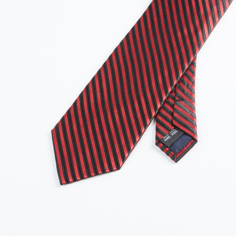 Formal Stripe Tie // Red