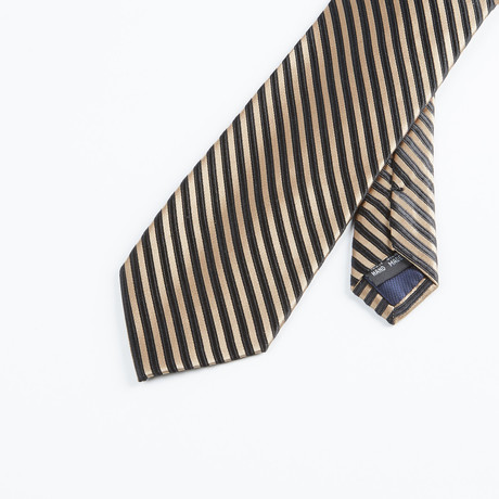 Formal Stripe Tie // Taupe