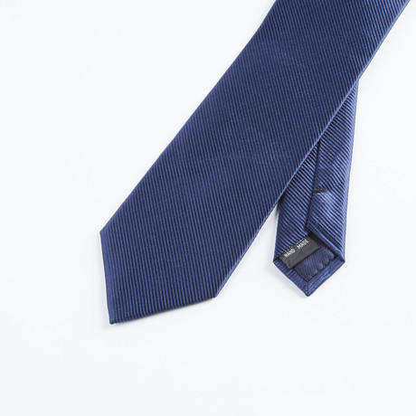 Textured Solid Tie // Navy