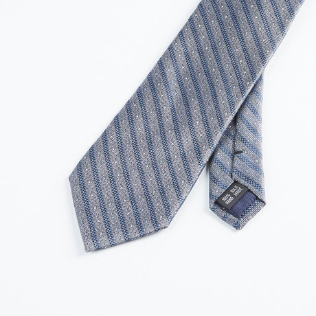 Spaced Stripe Tie // Gray