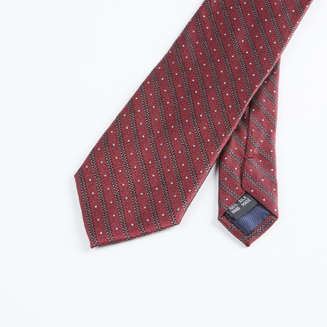 Spaced Stripe Tie // Burgundy