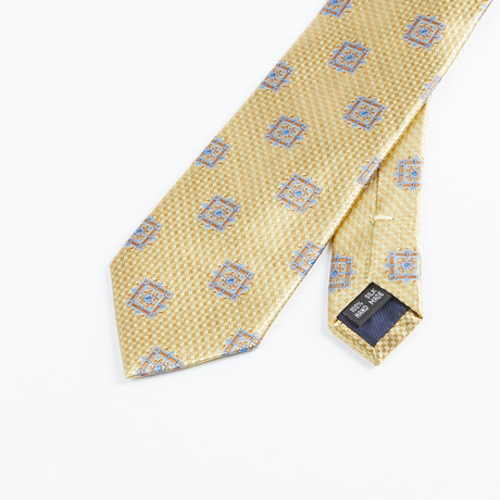Box Geometric Tie // Gold