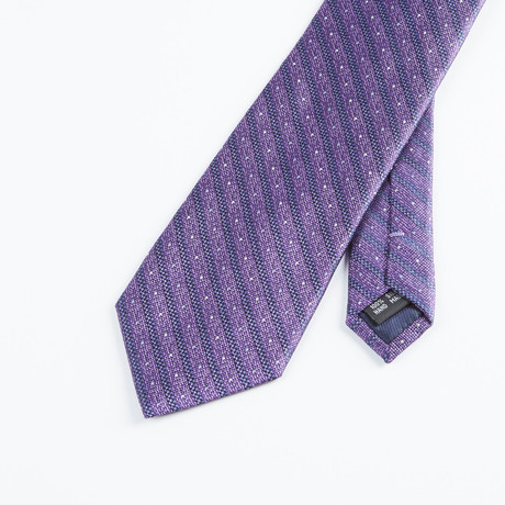 Spaced Stripe Tie // Purple