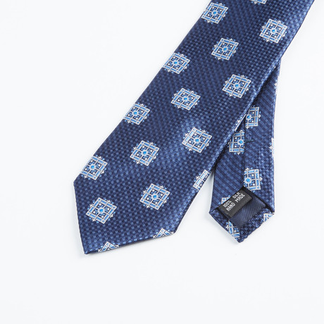 Box Geometric Tie // Navy