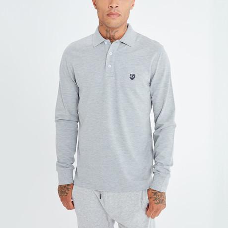Alvise Long Sleeve Polo // Gray (S)