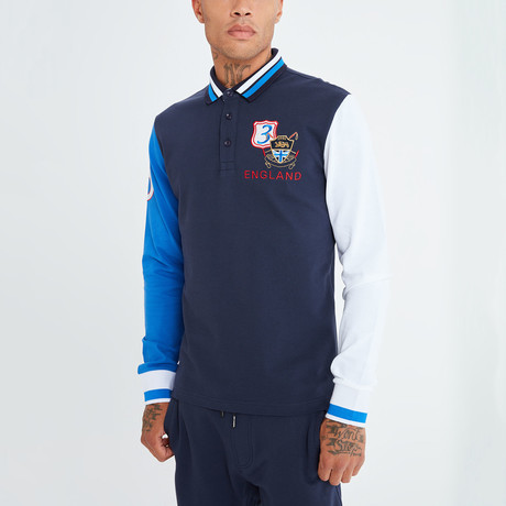 Elios Long Sleeve Polo // Navy (S)
