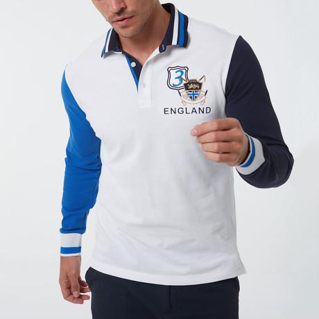 Elios Long Sleeve Polo // White (S)