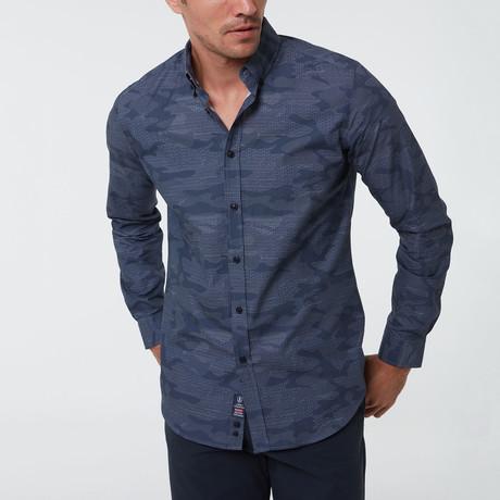 Geert Button-Up Shirt // Navy (S)