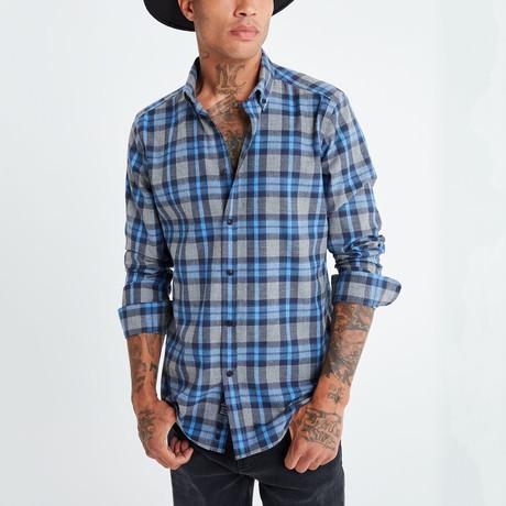 Imre Button-Up Shirt // Navy (S)