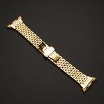24K Gold Apple Watch Series 5 With Diamond Rhinestones Band // 44mm
