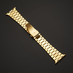 24K Gold // Apple Watch Series 5 // Gold Links Band // 44mm