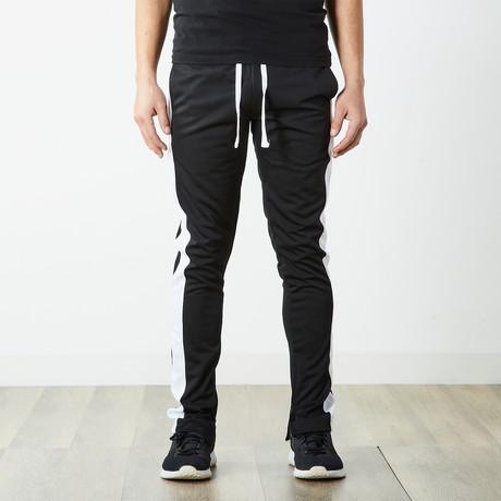 Staple Track Pants // Black + White (S)
