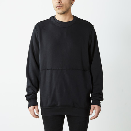 Inside Out Fleece Pullover Sweatshirt // Black (S)