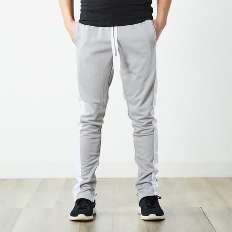 Staple Track Pants // Gray + White (S)