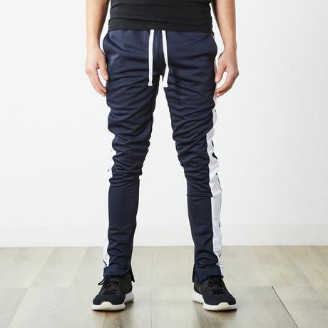 Staple Track Pants // Navy + White (S)