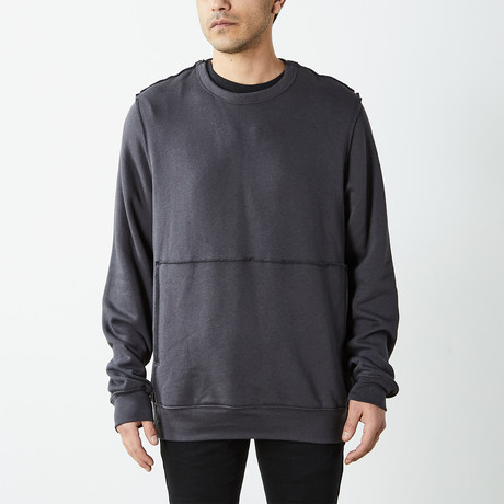 Inside Out Fleece Pullover Sweatshirt // Charcoal (S)