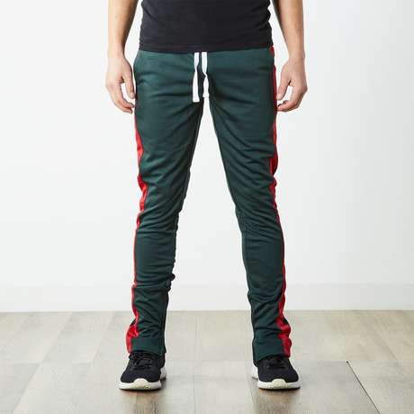 Staple Track Pants // Green + Red (S)
