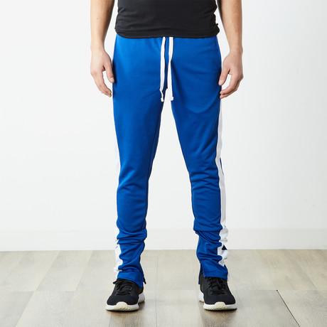 Staple Track Pants // Royal Blue + White (S)
