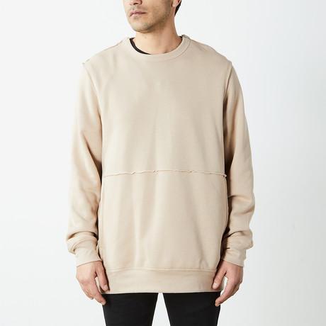 Inside Out Fleece Pullover Sweatshirt // Desert Tan (S)