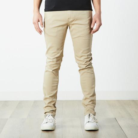 Skater Skinny Jeans // Khaki (30WX32L)