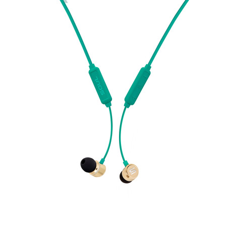 Prime Wireless // High Performance Earphones + Bluetooth (Emerald Green)