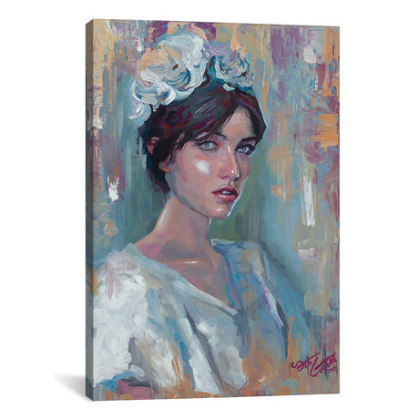 "Portrait Of Adela (12""W x 18""H x 0.75""D)"