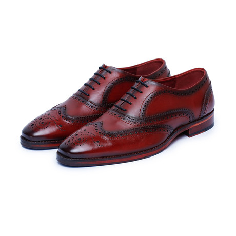 Wingtip Brogue Oxford // Wine Red (US: 8)