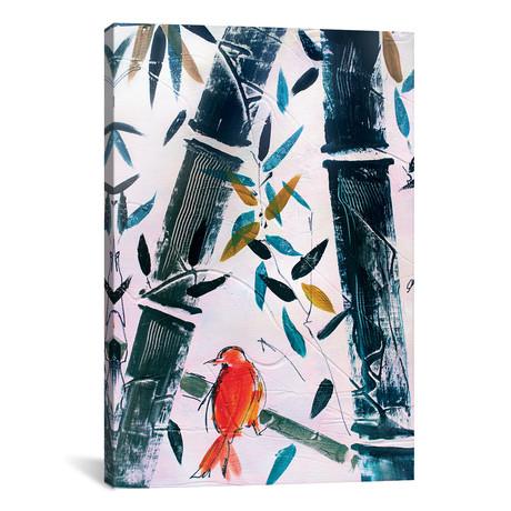 """Red Bird II // Marina Del Pozo (12""""W x 18""""H x 0.75""""D)"""