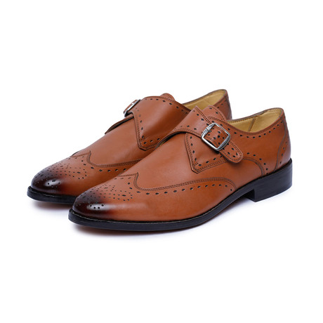 Single Strap Monk Goodyear Welted // Tan (US: 9)