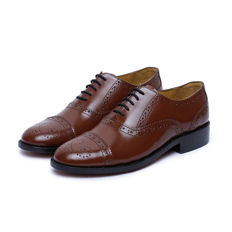 Captoe Brogue Oxford Goodyear Welted // Brown (US: 9)