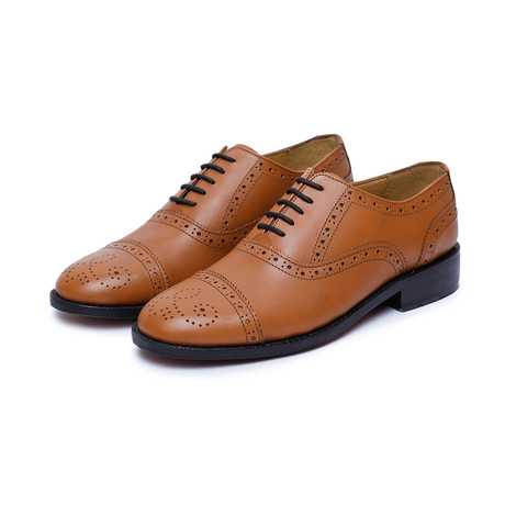 Captoe Brogue Oxford Goodyear Welted // Tan (US: 9)