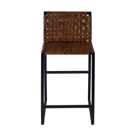 Gifford Woven Leather Counter Stool
