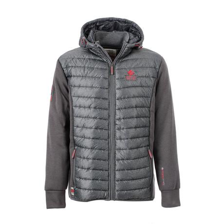 Landry B Hooded Jacket // Gray + Gray (S)